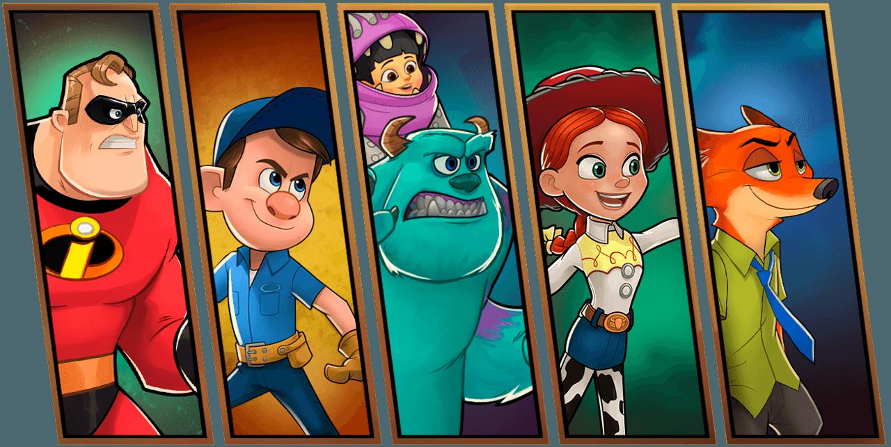 Disney ve Pixar Karakterleri Mobilde