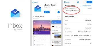 Inbox by Gmail iPhone X