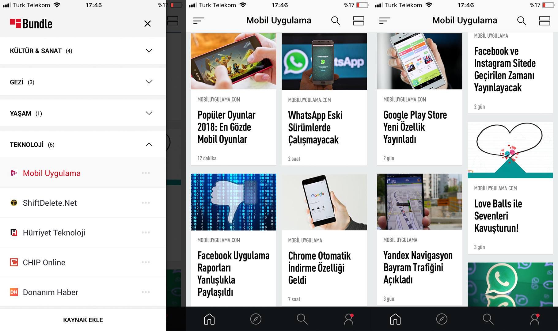 Mobil Uygulama Haberleri Artık Bundle'da