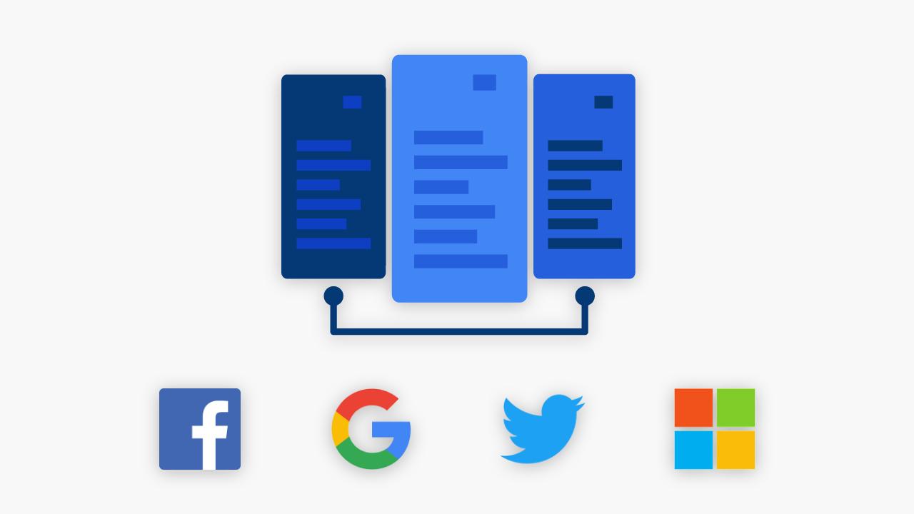 Google, Facebook, Microsoft ve Twitter
