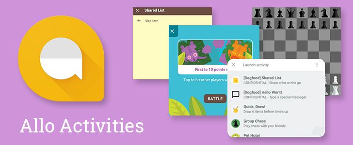 Google Allo Activities