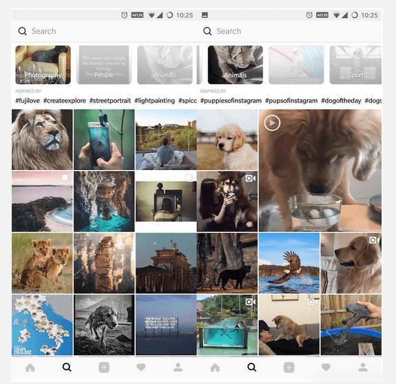 Instagram Arayüzü