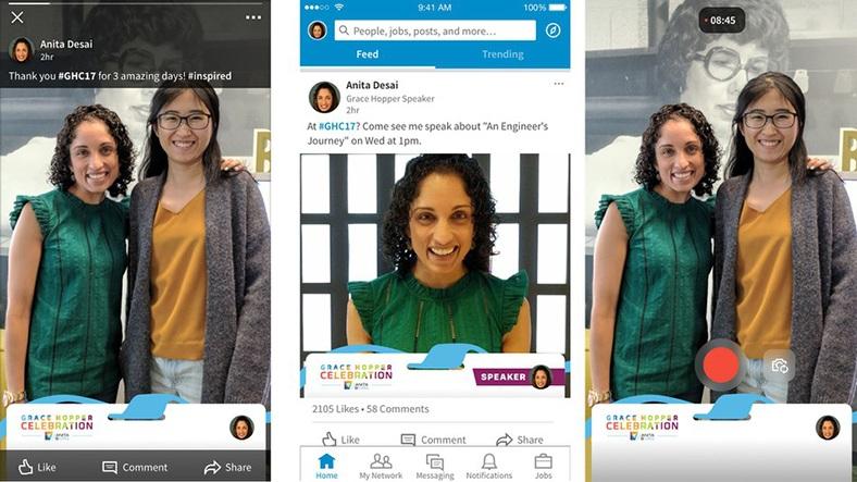 LinkedIn Snapchat Filtresi