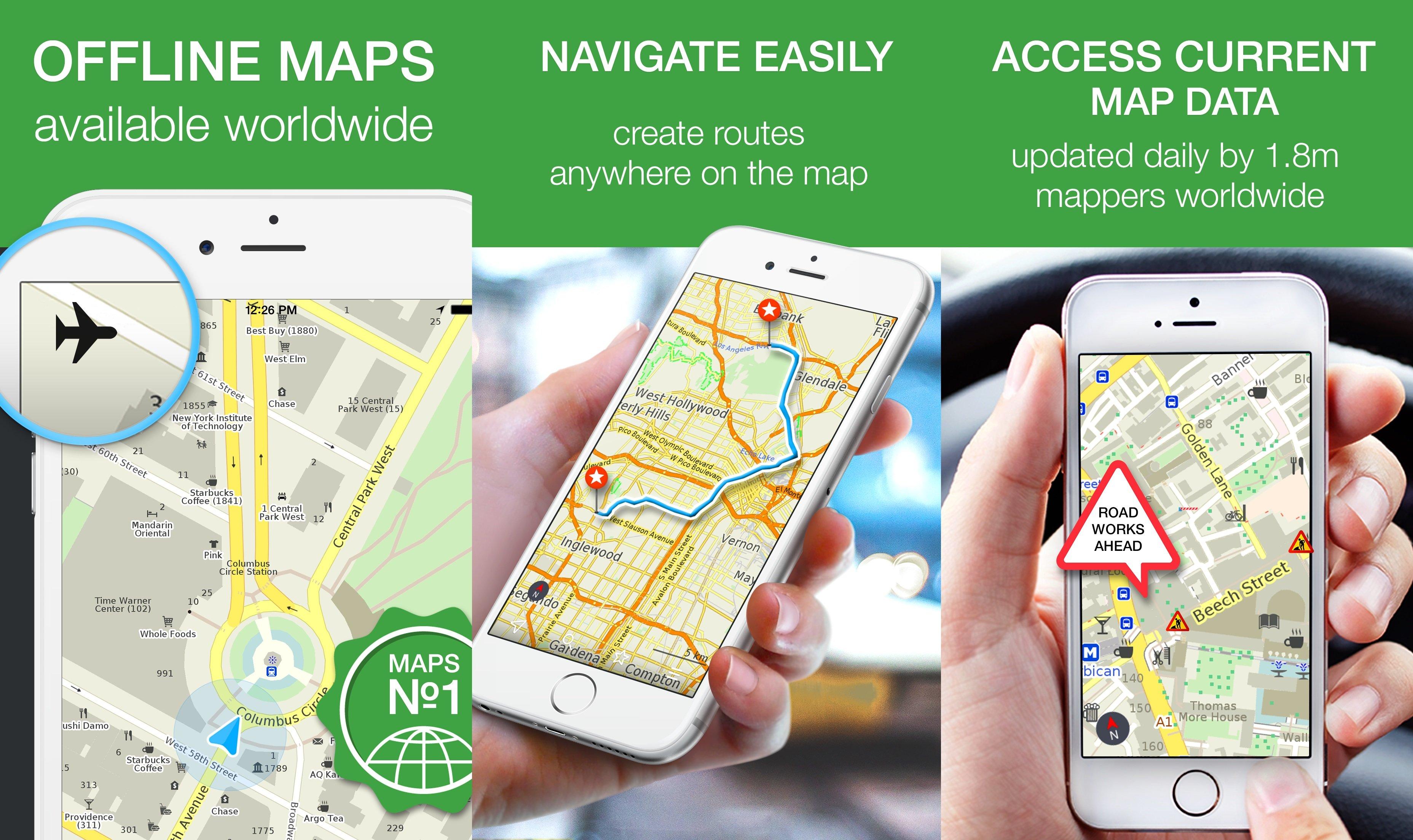 MAPS.ME Çevrimdışı Haritaları