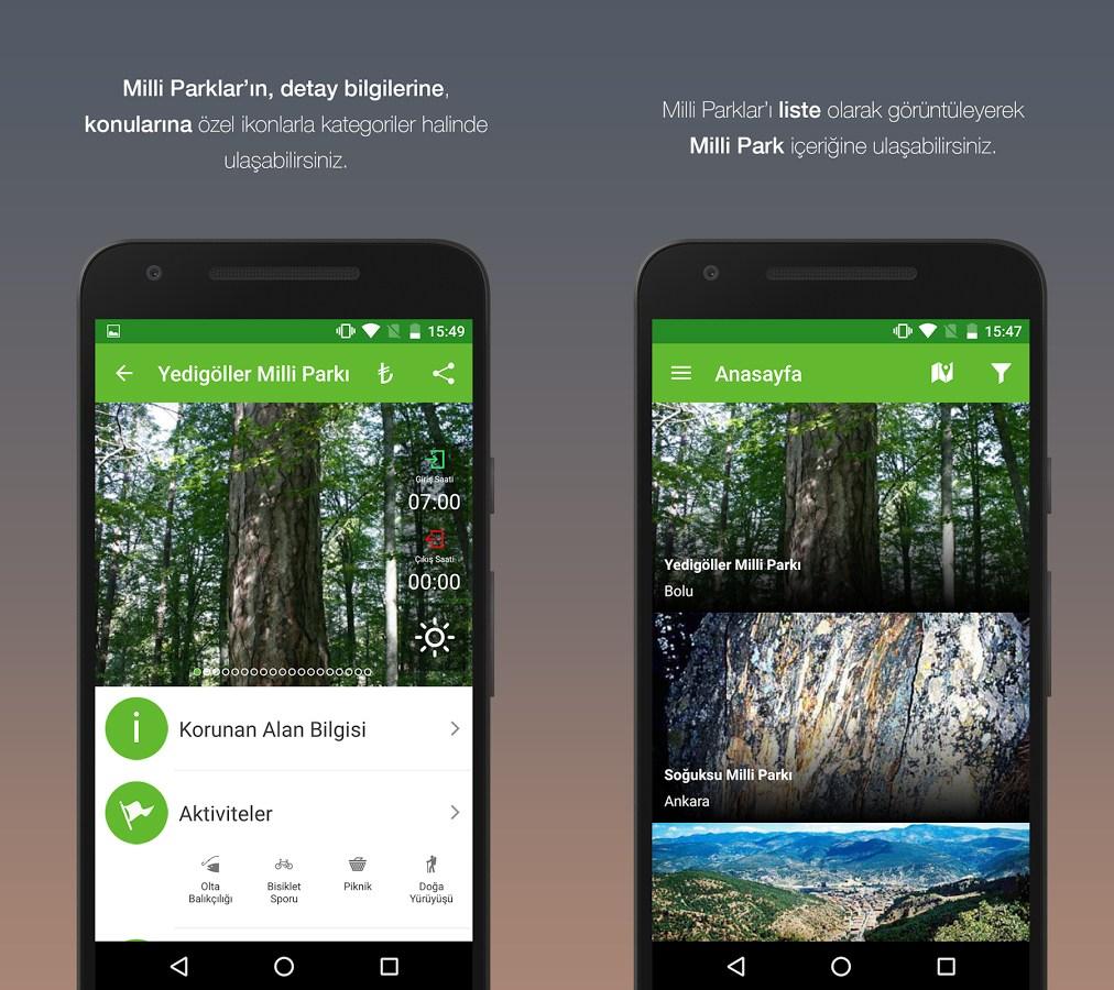 Milli Parklar Mobil Uygulaması