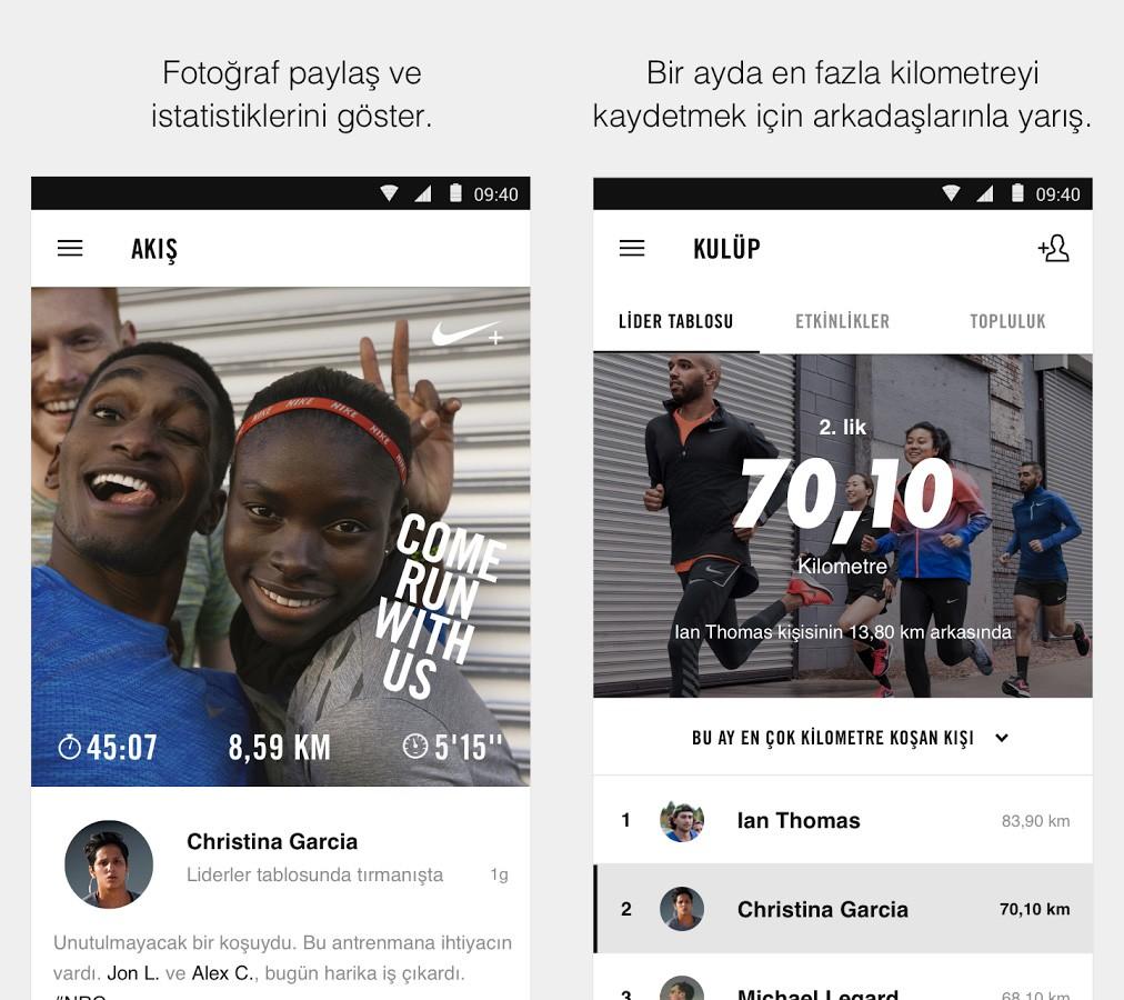 Nike+ Run Club Uygulaması screen