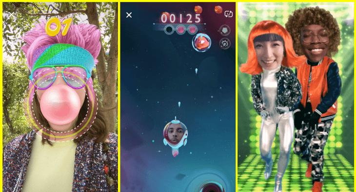 Snapchat Yüz Filtrelerine Oyun