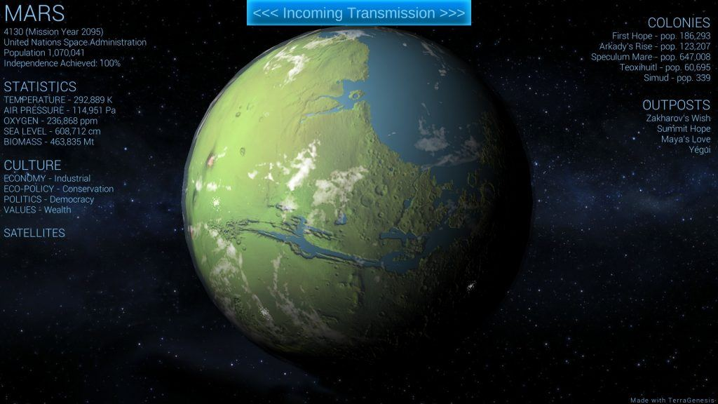 terragenesis mars