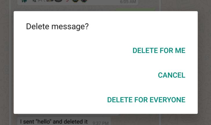 WhatsApp Mesajları Okumadan Silme Özelliği