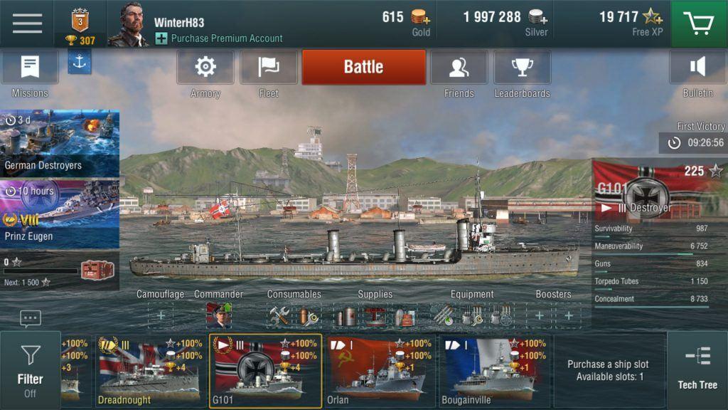 world of warships blitz muhrip almanya