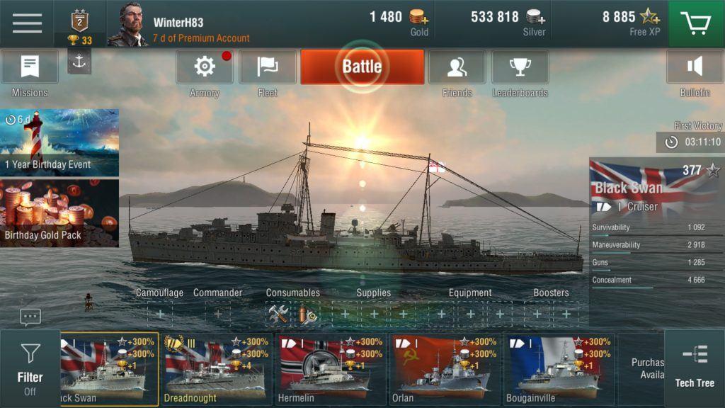 world of warships blitz sun